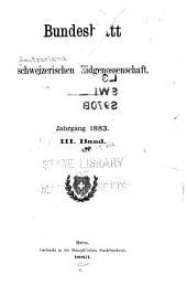 Bundesblatt der Schweizerischen eidgenossenschaft: Band 3