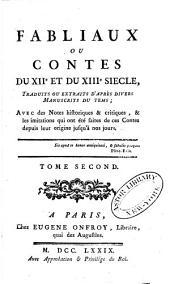 Fabliaux ou contes du XIIe et du XIIIe siècle: Volume2