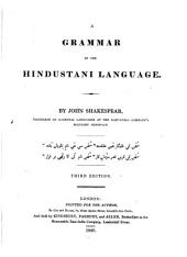 A Grammar of the Hindustani Language. 3. Ed