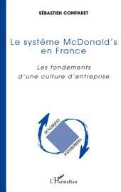 Le système McDonald's en France: Les fondements d'une culture d'entreprise