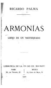 Armonías: libro de un desterrado