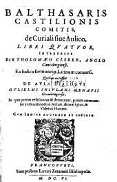 De Curiali sive Aulico: Libri IV