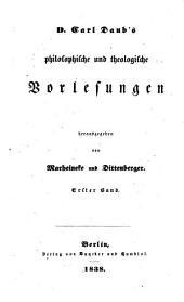 Carl's Daub *Philosophische und theologische Vorlesungen
