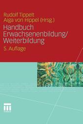 Handbuch Erwachsenenbildung/Weiterbildung: Ausgabe 5