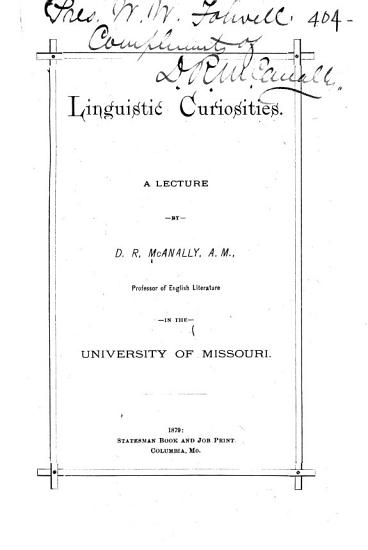 Linguistic Curiosities PDF