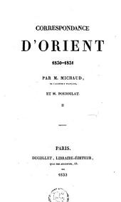 Correspondance d'Orient 1830-31: Volume2
