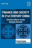 Finance and Society in 21st Century China PDF