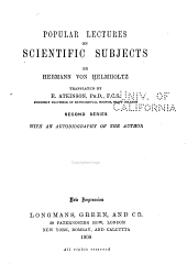 Popular Lectures on Scientific Subject