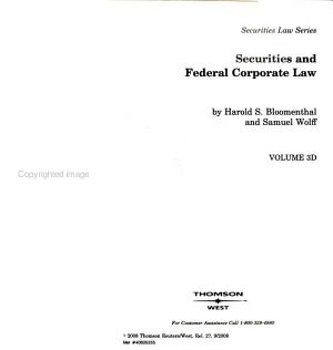 Securities and Federal Corporate Law