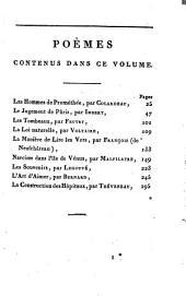 Petite encyclopédie poétique: ou choix de poésies dans tous les genres, Volume1