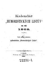 Kalendář Humoristických listův: na rok ..., Svazek 1