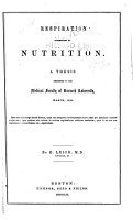 Respiration Subservient to Nutrition     PDF