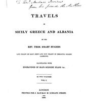 Travels in Sicily, Greece and Albania