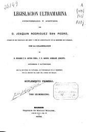 Legislación ultramarina: (445, V p.)