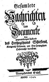 Gesamlete Nachrichten Den gegenwärtigen Zustand des Herzogthums Schlesien betreffend: Band 19