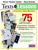 Texts and Lessons for Content area Reading Book