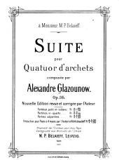Suite pour quatuor d'archets, op. 35