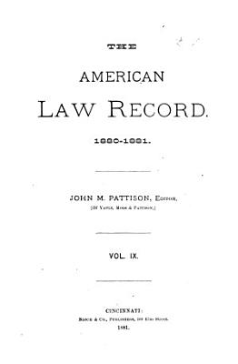 The American Law Record PDF