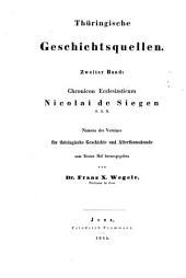 Thüringische Geschichtsquellen: Band 2