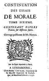 Essais de morale, par Pierre Nicole