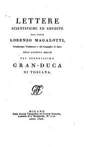 Lettere scientifiche ed erudite