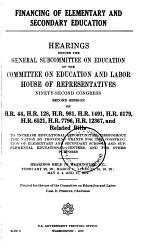 Financing of Elementary and Secondary Education