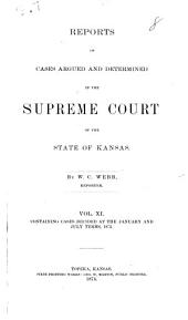 Kansas Reports: Volume 11
