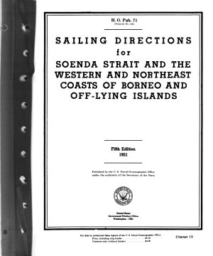 Sailing Directions for Soenda Strait and the Western and Northeast Coasts of Borneo and Offlying Islands