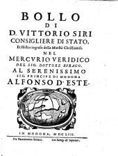 Bollo ... nel Mercurio veridico del Sig. dottore Birago (etc.)