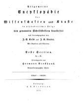 Allgemeine Encyklopädie der Wissenschaften und Künste: in alphabetischer Folge. ¬Section ¬1, A - G ; Theil 91, Grias - Grizio. 1,91