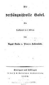 Der romantische Oedipus: ein Lustspiel in fünf Akten