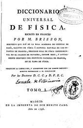 Diccionario universal de Física: Volumen 1
