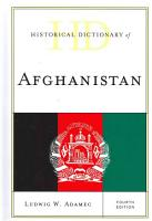 Historical Dictionary of Afghanistan PDF