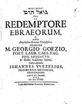 De redemptore Ebraeorum