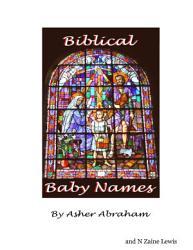 Baby Names Book Unique Biblical Baby Names PDF