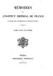 Mémoires de l'Académie des inscriptions et belles-lettres: Volumes12à21