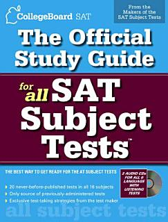 The Official Study Guide for All SAT Subject Tests Book