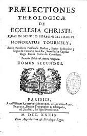 Praelectionnes theologicae de Ecclesia Christi