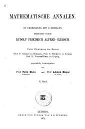 Mathematische Annalen: Volume 10