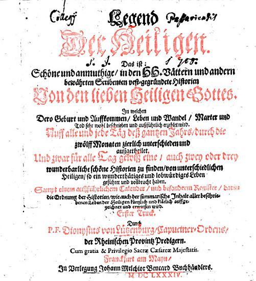 Legend der Heiligen PDF