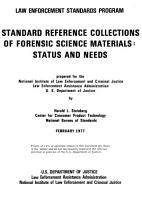 Standard reference collections of forensic science materials PDF