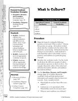 Academic Vocabulary Level 2  What Is Culture  PDF