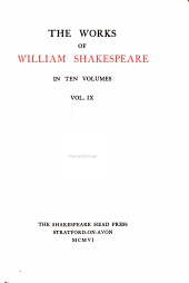 The Works of William Shakespeare...