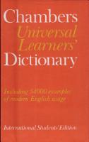 Chambers Universal Learners  Dictionary PDF