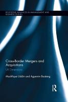Cross Border Mergers and Acquisitions PDF
