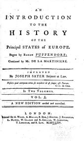 An introduction to the history of the principal states of Europe: Volume 1