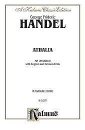 Athaliah (1733): Choral Extended Work (Miniature Score)