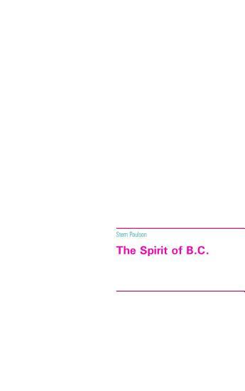 The Spirit of B C  PDF