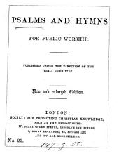 Psalms and hymns for public worship [ed. by T.V. Fosbery].