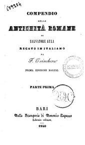 Compendio delle antichità romane di Salvatore Aula: Volume 1